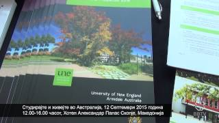 Study and Live in Australia Education Event - Macedonia Sept 2015