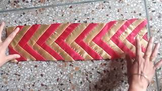 How to Make  Saree Lace or Designer Border at Home ll How to Increase Saree Width by Border