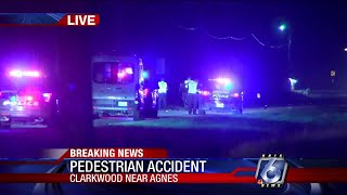Two pedestrians hit by car on Clarkwood Rd, one dead