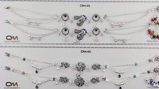 payal design silver | Anklet Designs | Latest Indian Bridal Payal Design | पायल डिजाइन
