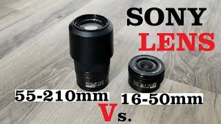 SONY Lens Zoom Comparison 16-50mm VS 55-210mm SELP1650 SEL55210