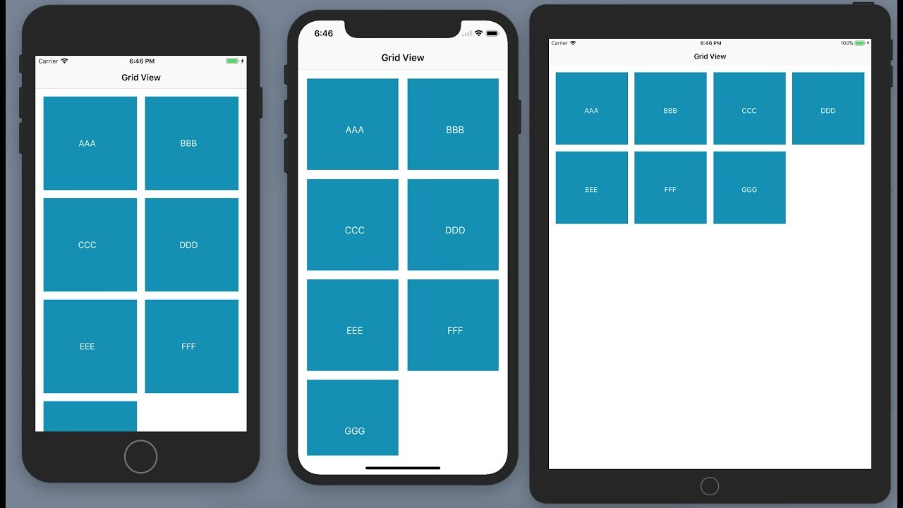 Swift4 - Create Responsive GridView using UICollectionView