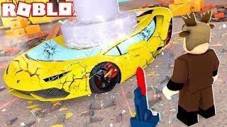 DESTROYING MY $10,000,000 LAMBORGHINI IN ROBLOX! (Roblox Car Crushers)