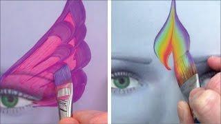 Repeat youtube video 5 Kinderschminken Pinsel für coole Striche und Effekte - Kinderschminken lernen TEIL 4