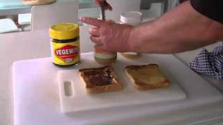 Aussie Delight  - Vegemite, Honey And Peanut Butter On Toast