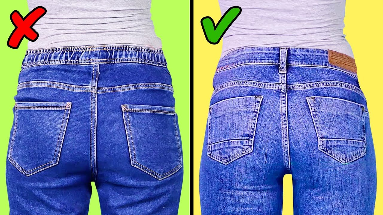 ee081d6892fe4 23 GENIUS JEANS HACKS - YouTube