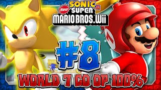Sonic & Mario in New Super Mario Bros Wii - Co Op 100% - Part 8