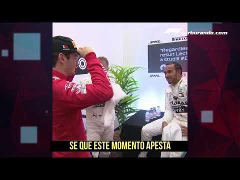 El buen gesto de Hamilton a Leclerc luego del Gran Premio de Bahrein