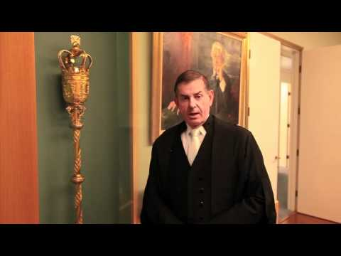 Speaker of the House, Peter Slipper Explains The Ceremonial Mace in the House of Representatives