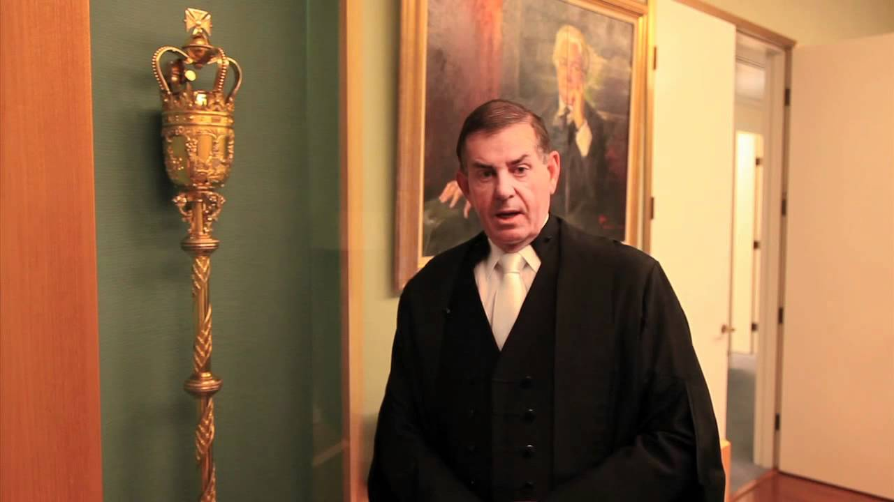 speaker of the house, peter slipper explains the ceremonial mace