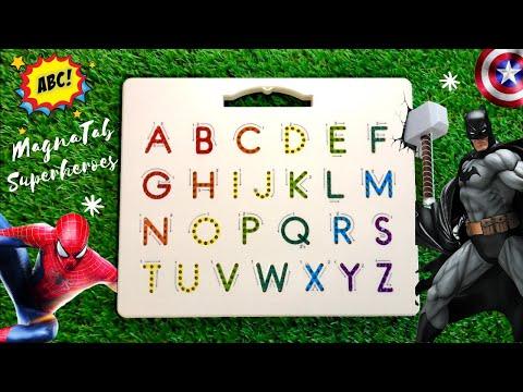 Superhero ABC - Learn to write ABC´s with MAGNATAB