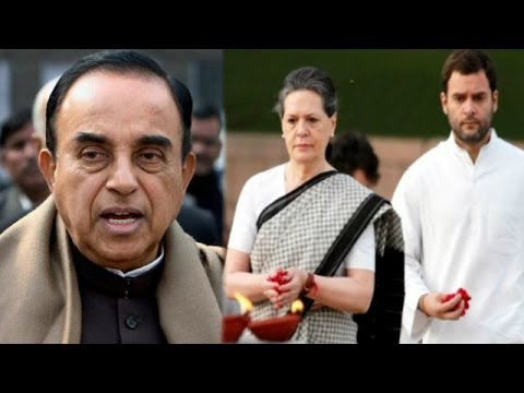 The Newshour  Debate: Subramanian Swamy Vs Gandhis - Full Debate (26th June 2014)