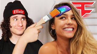 Painting Sommer Ray at FaZe House
