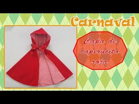 Carnaval Como Hacer Una Capa De Caperucita Roja Youtube