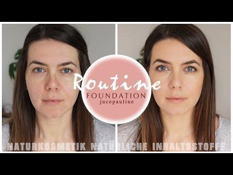 FOUNDATION ROUTINE Naturkosmetik Makeup | Alltags Makeup | natürliche Inhaltsstoffe + mit heylilahey Video