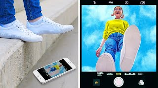 COOL PHOTO TRICKS FOR BEGINNERS AND PROS! || Fun Instagram Photo Hacks by 123 Go! Genius