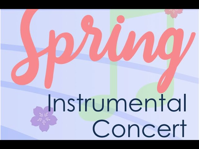 Spring Concerts live in May