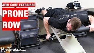 Prone Row Exercise - Arm Care Shoulder Program