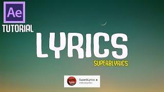 Download How To Make Lyrics Video Like (SuperbLyrics) Channel