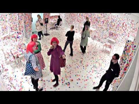 Yayoi Kusama's Obliteration Room at Louisiana Museum of Modern Art