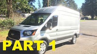 Part 1 - 2015 Ford Transit Work Van Review, Walk Around, Engine Start and Test Drive!