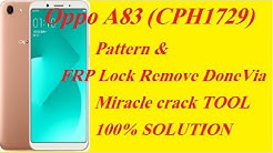 OPPO A83 PIN FRP REMOVED BY CRACK MIRACLE BOX V2 82 BY MTK
