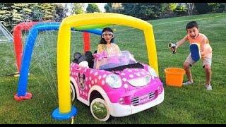 Heidi تنظف سيارتها عند غسيل السيارة Zidane