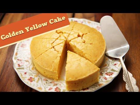 Eggless Golden Yellow Cake | Quick Cake And Dessert Recipe | Divine Taste With Anushruti
