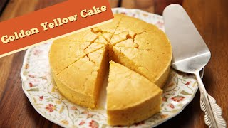 Eggless Golden Yellow Cake | Quick Cake / Dessert Recipe | Divine Taste With Anushruti