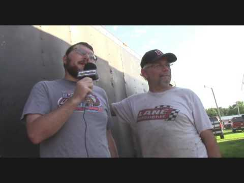 Farmer City Raceway Pre Race Interview with KEVIN WEAVER 7 22 2016