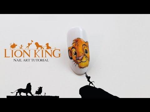 Disney Icon Nail Art Tutorial 🦁 Simba Lion King | Król lew krok po kroku thumbnail