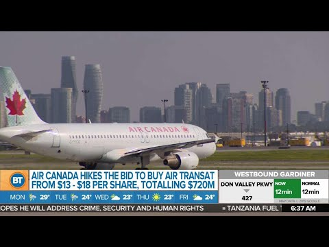 Air Canada Raises Bid To Buy Air Transat