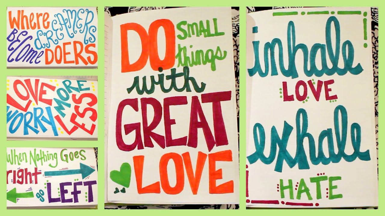 Quotes Journal Endearing Diy Quote Art Journal ✽ Part 2  Youtube