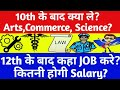 What After 10th Class? Arts,Commerce, Science ?What To Do After 12th | Career, Course, Job,Salary?