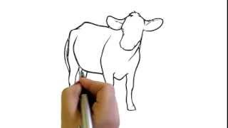 How to Draw a Cow Simple easy Drawing cartoon