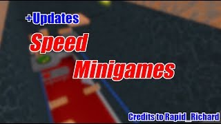 (ANOTHER NEW MAP AND LOW DETAIL!) Speed Minigames (My Game) | Roblox