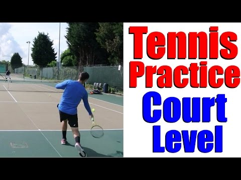 Tennis Practice - Training With Junior ITF Player