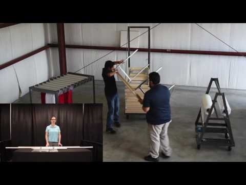 How To Create a Trade Show Setup with Pipe and Drape