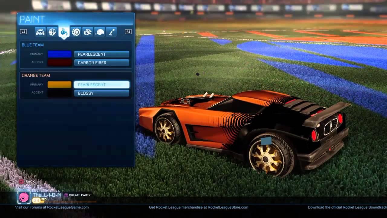 Best Colors For Orange Painted Cars Rocket League