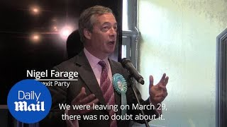 Nigel Farage: Theresa May won't be PM for long