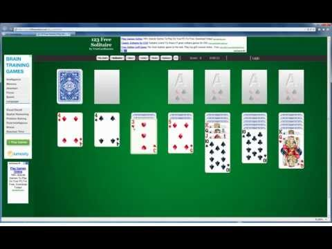 One-minute Tutorial: Learn How To Play Classic Solitaire Online With 123 Free Solitaire