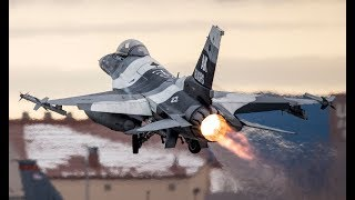 US Air Force F-16 & F-15 Pilots Flying at Royal Air Force Base