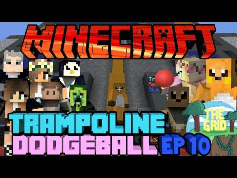 Minecraft: The Grid 16 Trampoline Dodgeball Ep 10 Blending In