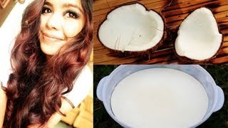 DIY Organic Coconut Milk Hot Oil Treatment-How to Extract Coconut Milk Oil from the Coconut Fruit