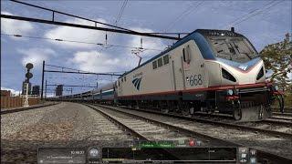 Train Simulator 2016 HD: Siemens ACS 64 668 Leads Amtrak Silver Meteor Train 98 (13 Cars) PHL to NYP