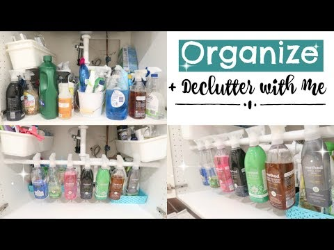 ORGANIZE & DECLUTTER WITH ME 2017 // ORGANIZING MY CLEANING PRODUCTS // CLEVER ORGANIZATION