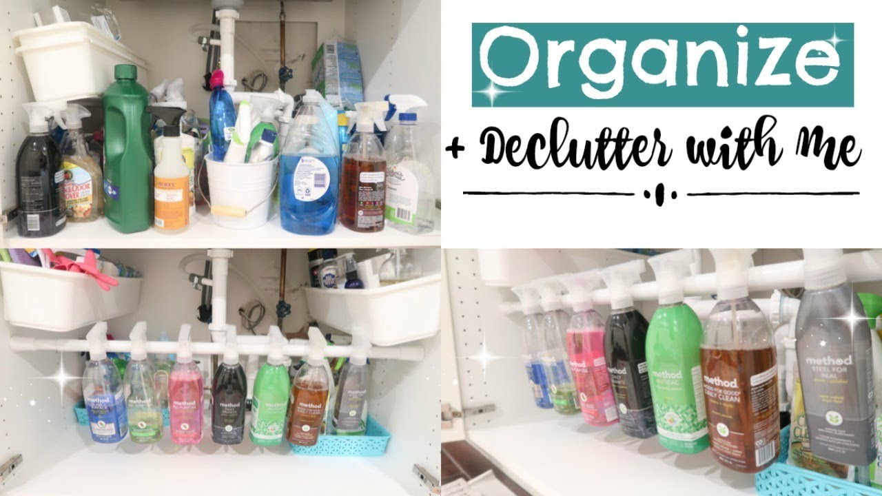 Organize Declutter With Me 2017 Organizing My Cleaning Products Clever Organization