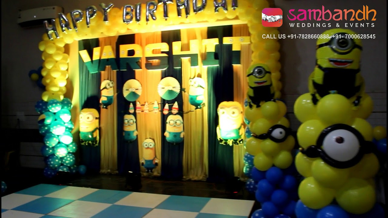 Minions Theme Birthday Decoration