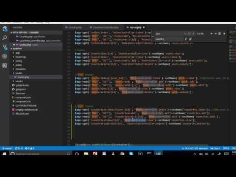 Web development tutorial - recruitment portal - 15   Create Contries Routes
