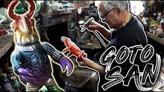 SOFUBI GOTO SAN Encontré al gran Maestro pintor de Kaijus y ART TOYS Japan Tokyo